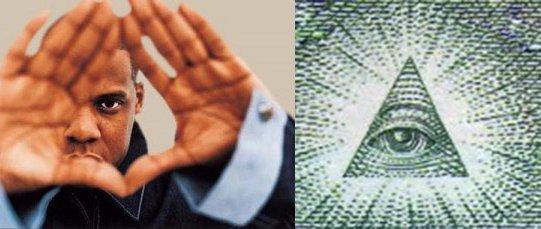 O sinal da mão ROC refere-se ao Olho Que Tudo Vê dentro de um triângulo, o símbolo dos Illuminati final.