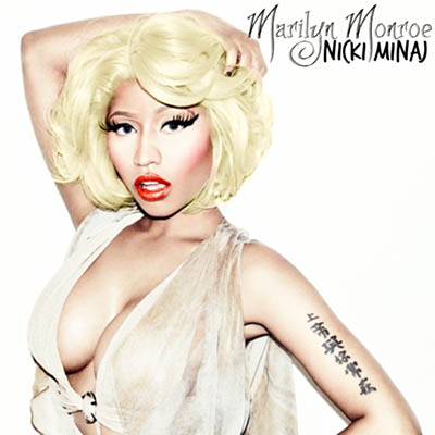 Nicki Minaj often imitates the Marilyn Monroe look.
