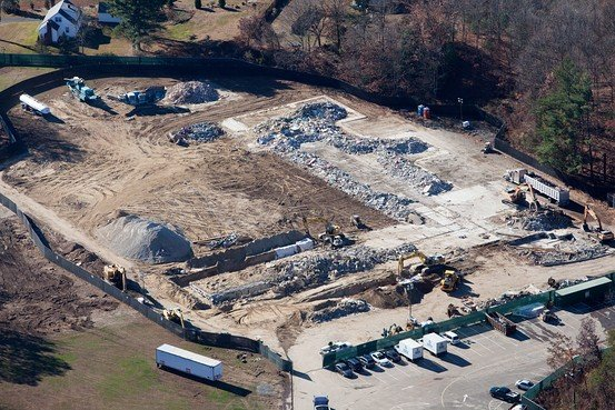 """Here is what left of Sandy Hook Elementary School. Questioning the """"official version"""" of the story with crime scene evidence is now quite difficult, isn't it?"""