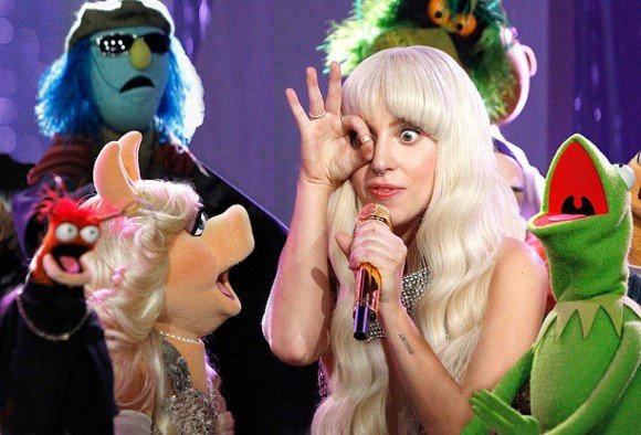 "For some reason, someone thought of creating a TV show called ""Lady Gaga & The Muppets Holiday Spectacular"". Who wanted to see Lady Gaga doing the one eye sign around a bunch of puppets on Thanksgiving? Apparently 3.6 million viewers (including a whole bunch of children) did."