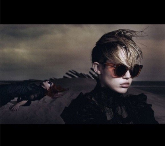 "In this pic, Miley looks really cool with shades on ... the dead girl looks cools as well. This ad campaign prompted a writer at The Guardian to publish an article entitled ""How female corpses became a fashion trend"", where the writer cited a few other examples of dead women in fashion shoots. This is simply an extension of the culture of death is prevailing in pop culture, where deshumanization is something that is being made cool and fashionable."