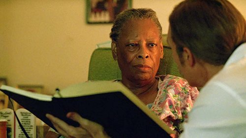 When the detectives visit Delores Jackson, an ex-maid who worked for Tuttles, we also see signs of mind control.