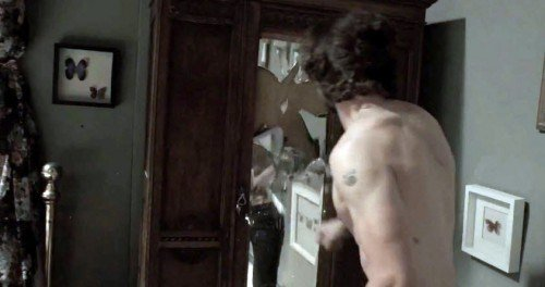 Shia then finds himself locked in room full of framed butterflies - a somewhat clear way of representing Monarch Programming. As in every single MK-themed video, there's a scene where the slave attempts to break programming representing by the shattering of a mirror.