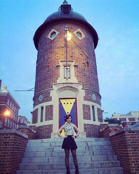 "Here's Katy Perry in front of the Harvard Lampoon Castle. Built by high level Illuminatus William Hurst, the castle houses the Lampoons which is said by some to be related to Yale's Skull and Bones. Perry was ""initiated and hazed"" at the Lampoon and wrote as a caption to this picture: ""I was never the same""."