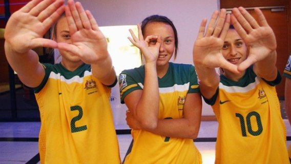 This picture is on FIFA Women's World Cup website in an article about the Young Player Award. A great message for the youth out there.