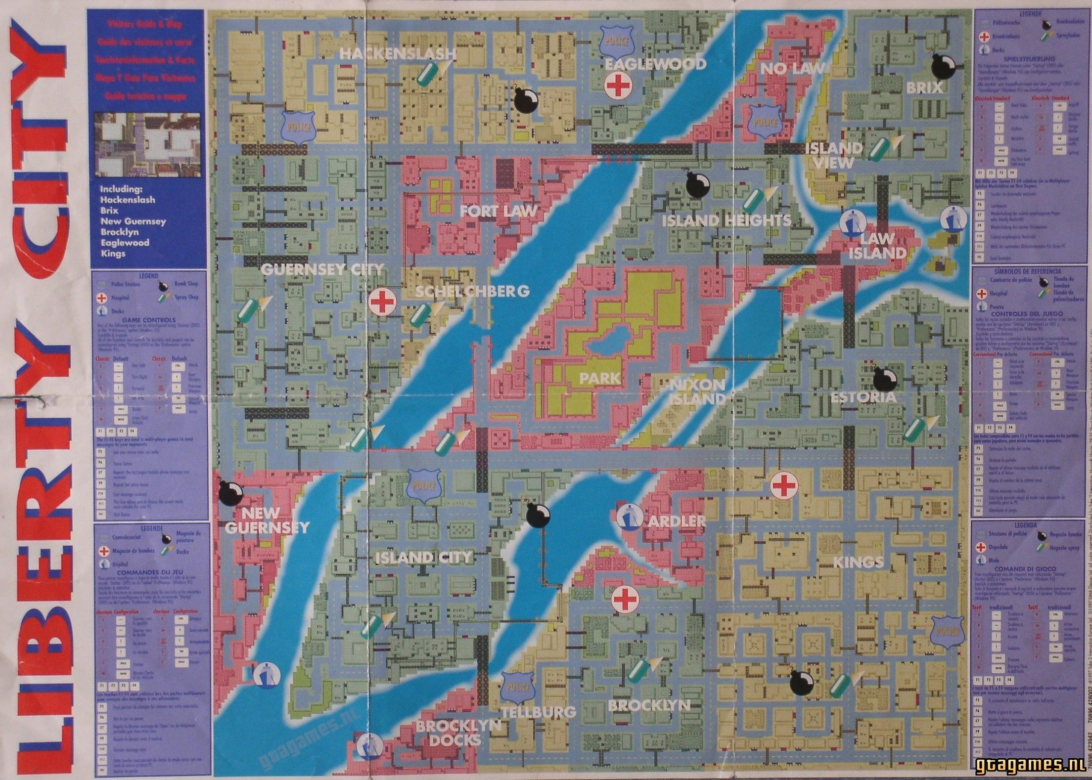 Maps   GTA Wiki   FANDOM powered by Wikia Liberty City in GTA 1