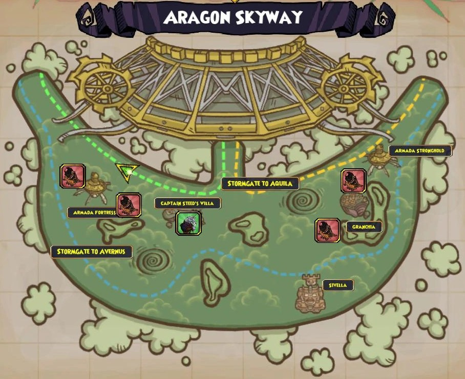Image    Map  Aragon Skyway png   Pirate 101 Wiki   FANDOM powered      Map  Aragon Skyway png