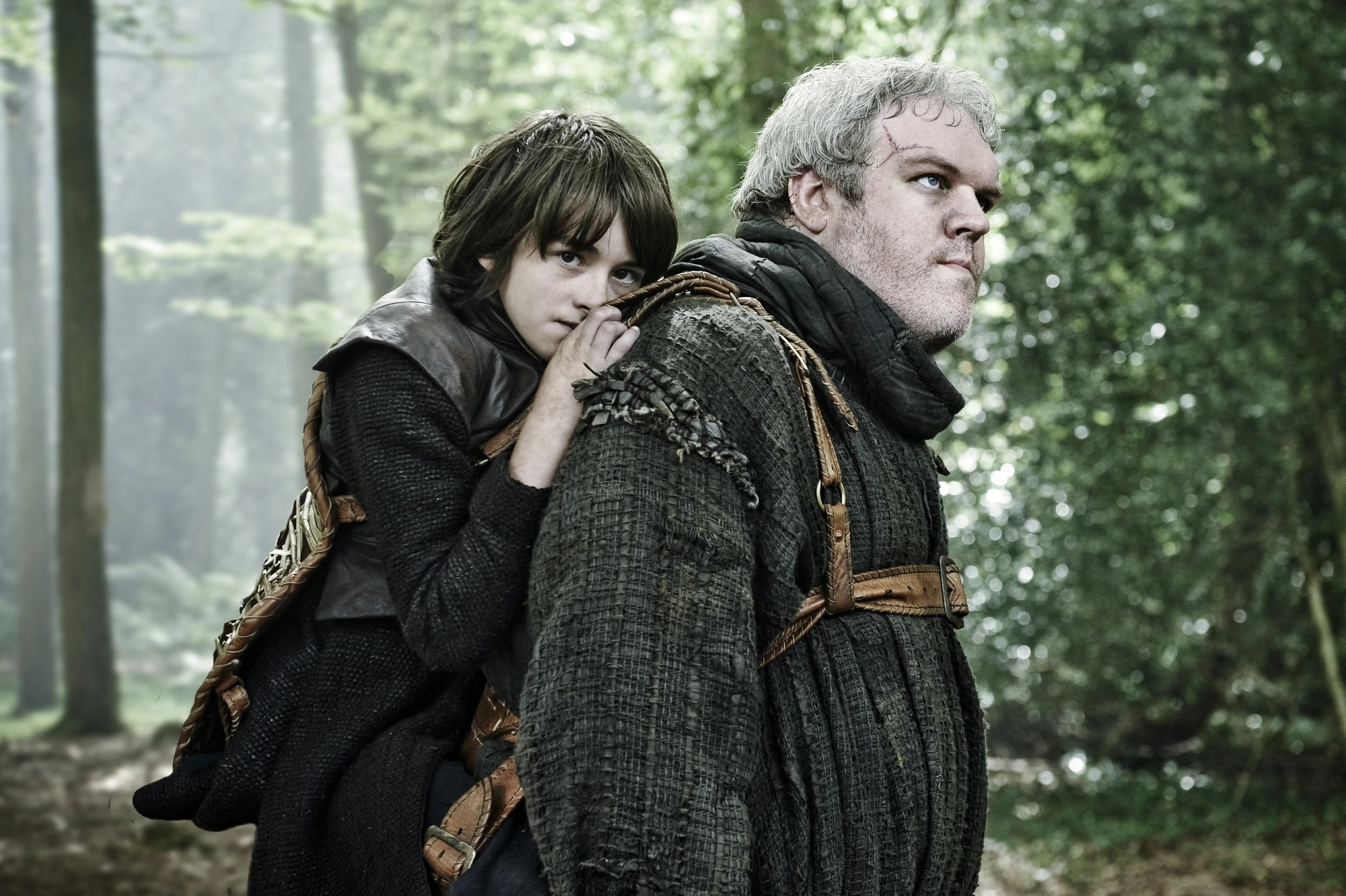 bran stark and hodor issac hempstead wright