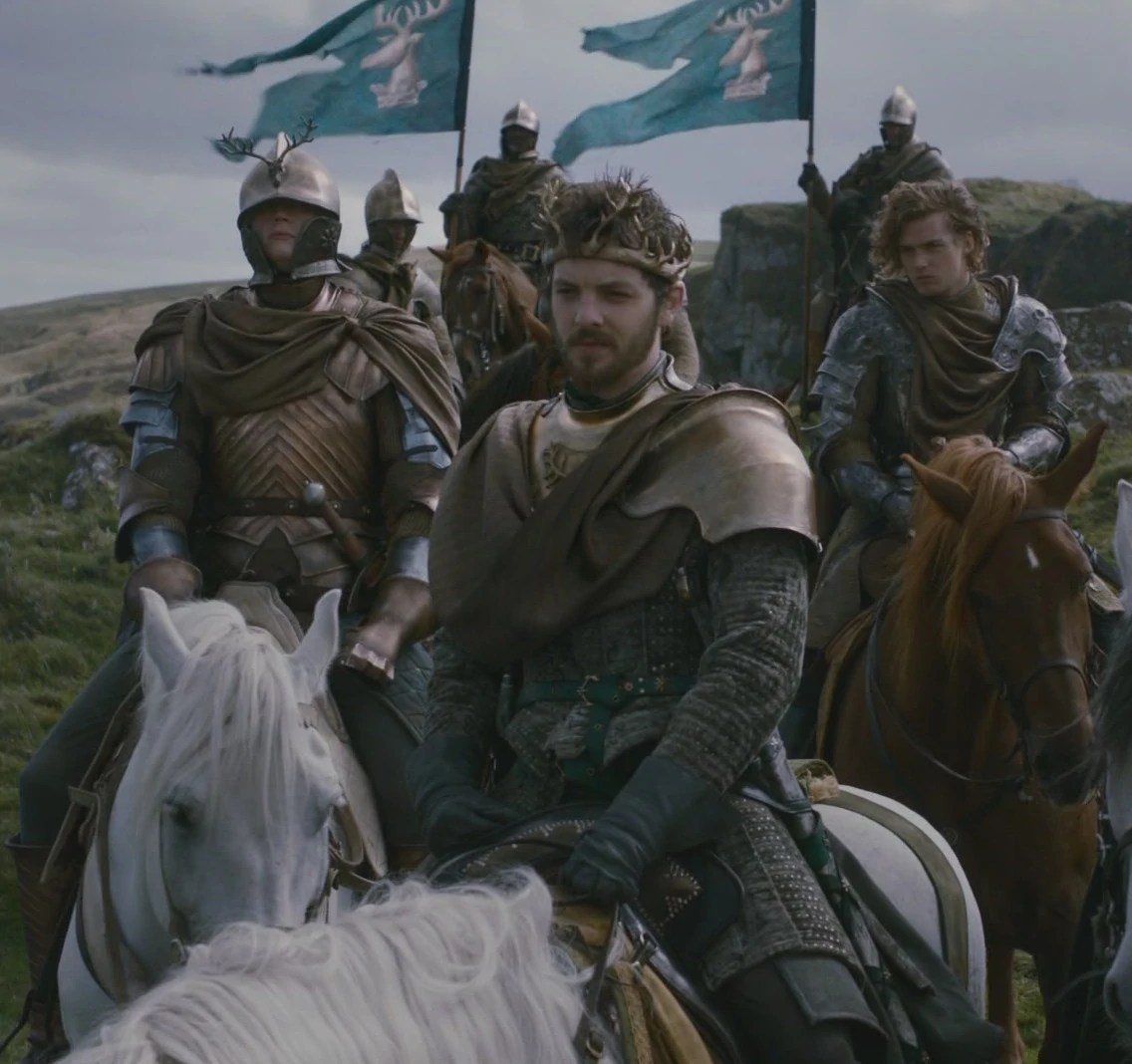 renly s kingsguard with brienne loras and heraldry