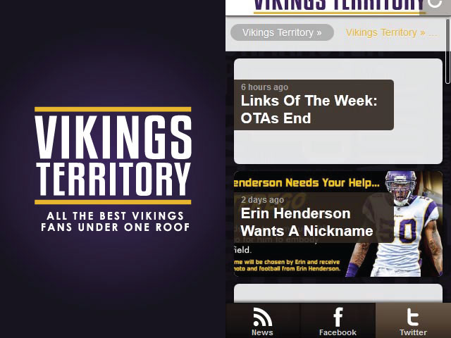 Vikings Territory Android App Screenshots