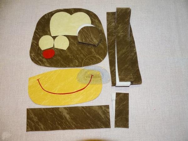 Детали рюкзака обезьянки