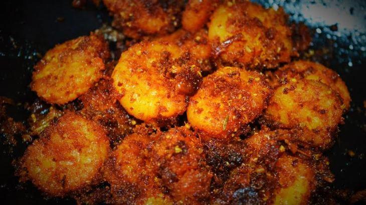 Prawn Fry recipe, seafood recipe, prawns dry recipe, kerala cooking, kerala dishes, kerala recipes, kerala cuisine, south indian recipes, spicy seafood recipe