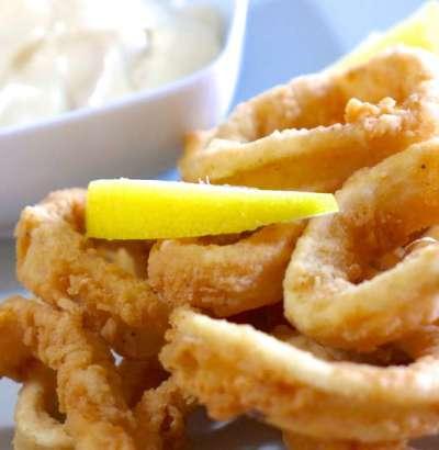 Crispy Calamari Fry, squid fry, crispy calamari fry recipe, fish snack recipe