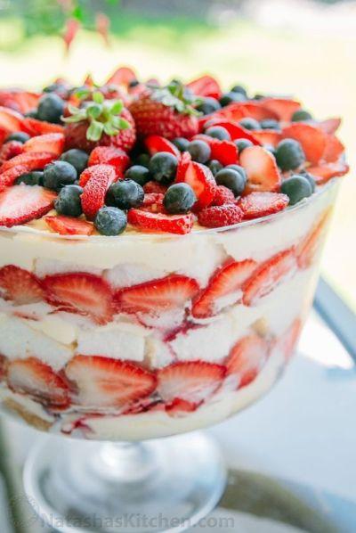 Mixed fruit Trifle recipe, easy dessert recipe, dessert with fruits recipe