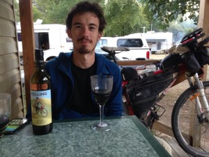 me in Omeo celebrating the achievement (The 21st of March – Healesville to Omeo: wrap up)