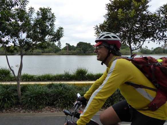 Neil doing a great job at escorting me through the brilliant network of cycling  paths in Brisbane. Good effort mate!
