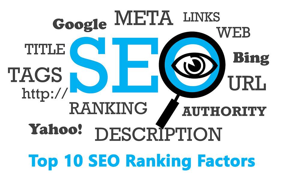 Top 10 SEO ranking factors