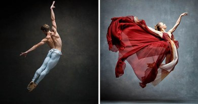 Потрясающая серия фотографий демонстрирует грациозные движения танцоров и танцовщиц балета.