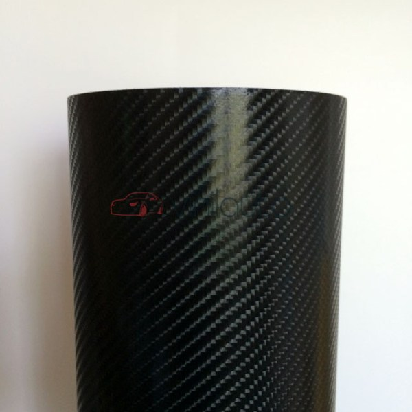 Карбон 4D под лаком черный CarLux+ Корея, 1.52м.