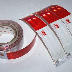Светоотражающая лента 3М красно-белая