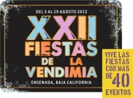 Calendario de Eventos XXII Fiestas de La Vendimia Ensenada 2012