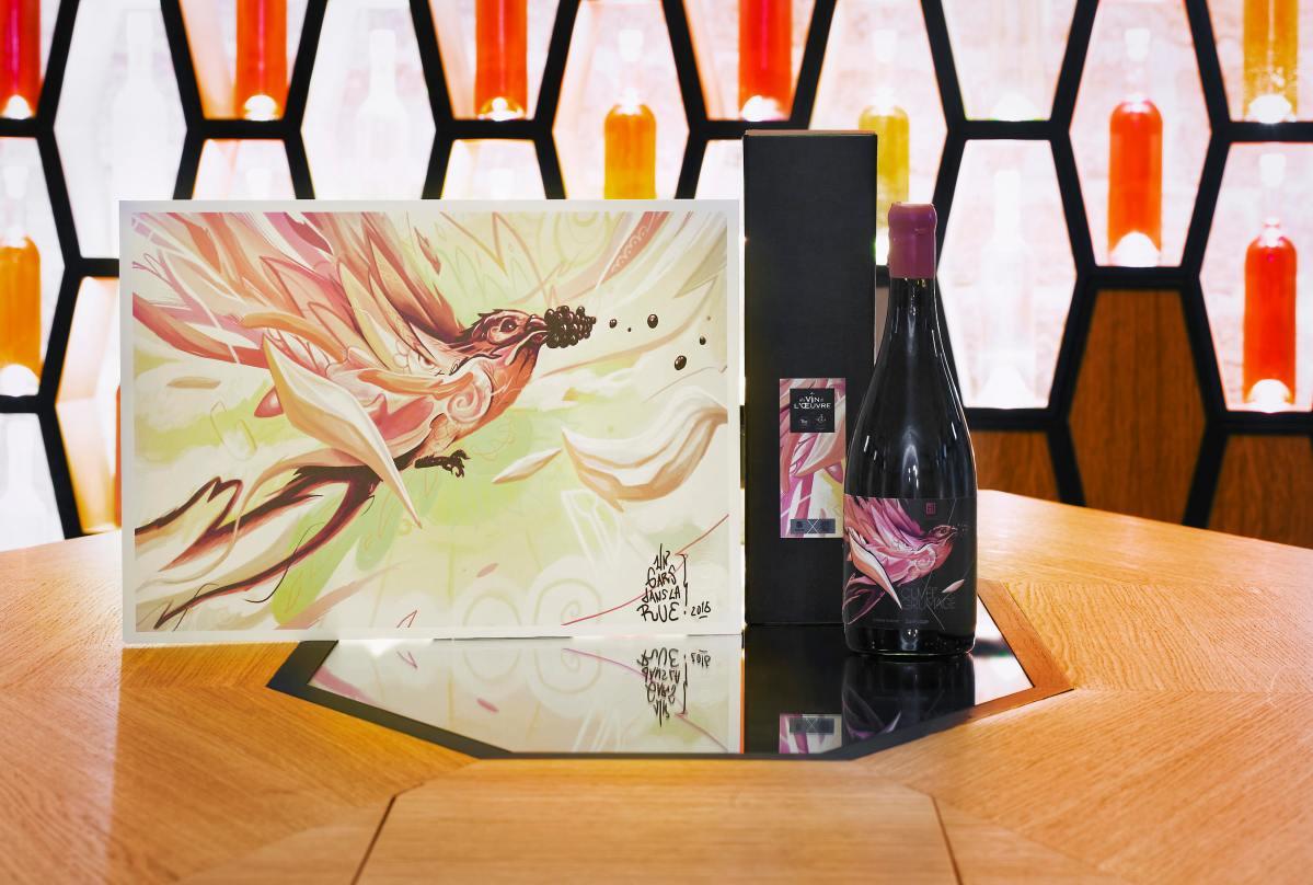 coffret cadeau, art , vin, cadeau originale