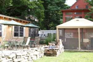 Heritage Trail Outdoor Patio, Lisbon, CT / Photo: Marguerite Barrett