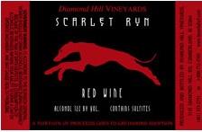 Scarlet Run Label