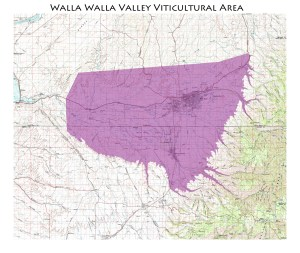 Map of the Walla Walla AVA