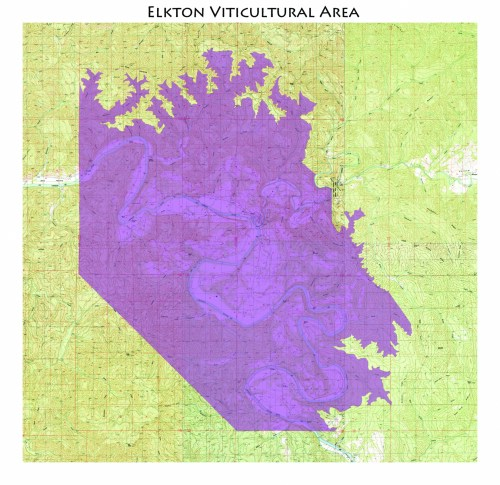 Map of the Elkton AVA