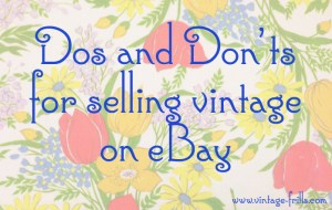 Ebay dos and donts