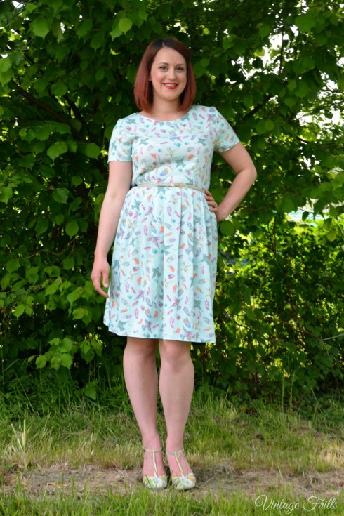 Peacocks Bird Print Formal Prom Dress Review