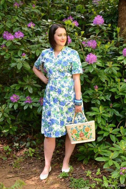 Blue Rose 1950s Dress OOTD