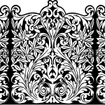 Royalty Free Images – Ornate Border Illustration