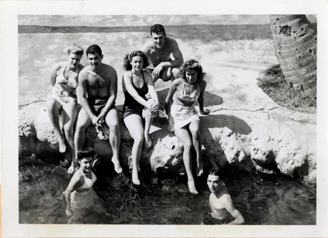 1940s students swimming
