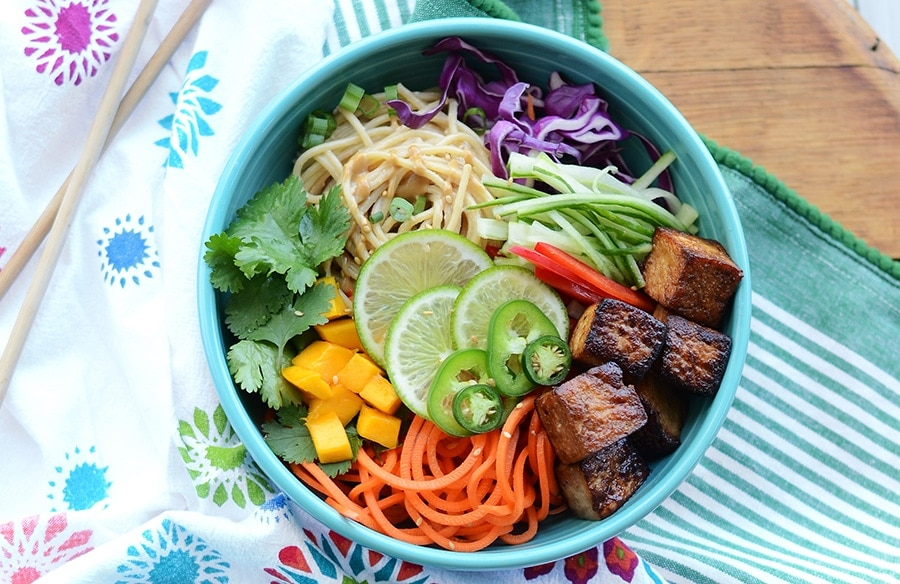 Sesame Noodle Salad With Tofu Recipe — Dishmaps