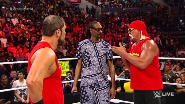 Snoop Dogg Makes A Special Appearance On WWE RAW With Hulk Hogan