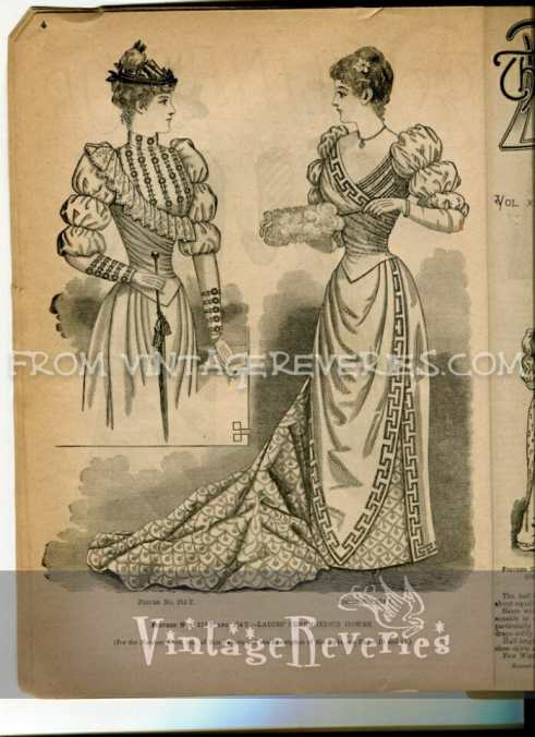 1892 Fashion Magazine   10 scans from the Delineator