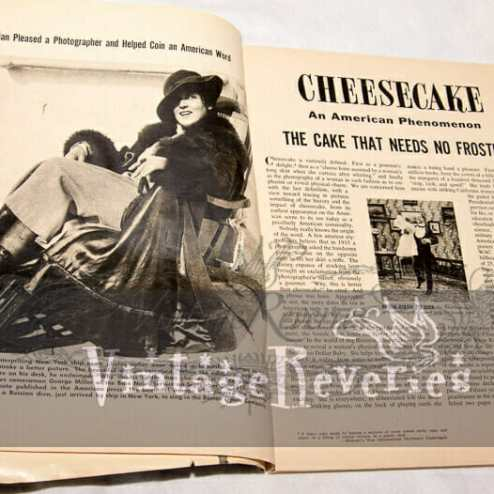 How the term cheesecake pinup originated