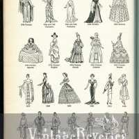 Types of Satin continued thru Silhouette descriptions and illustrations