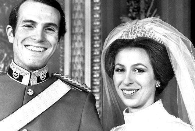 Celebrity weddings - Princess Anne & Captain Mark Phillips 4 via National Vintage wedding fair blog