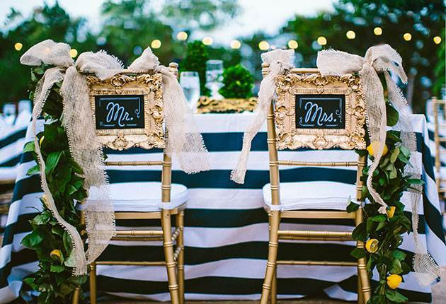 Wedding Chair with style - mr and mrs chairs via National Vintage Fair blog
