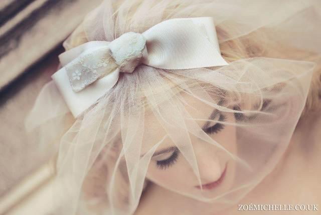 McFayden bow veil vintage 1960s inspired veil via The National Vintage Wedding Fair