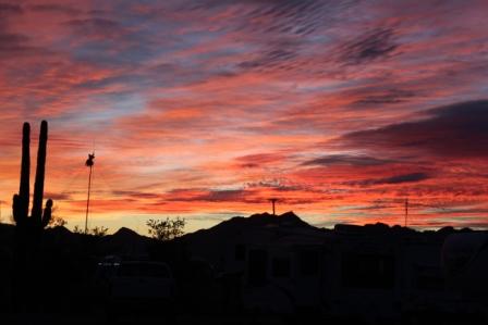 Sunset at Quartzsite, AZ