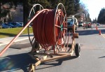 Fiber optic spool on trailer credit, Ken Pyle