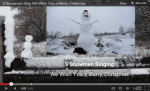 "Image of 9 Snowmen singing, ""We wish you a Merry Christmas."""