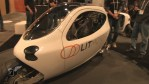 A picture of an electric vehicle from LIT Motors at CES 2014.