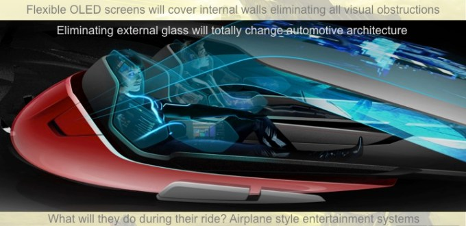 Image showing what a vehicle might look like without a steering wheel.