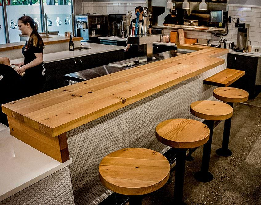 furniture restaurant table tops reclaimed douglas fir tabletops of los angeles 2