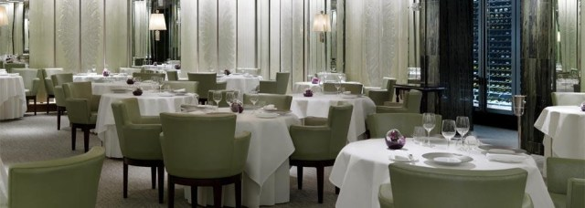 Interior do restaurant Gordon Ramsay at The London